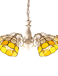 BOXOMIYA® Chandeliers Crystal/LED Traditional/Tiffany/Country/Globe Living Room/Bedroom/Dining Room Glass