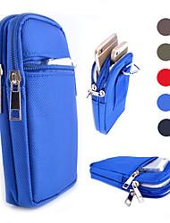 três zipper pacote geral kua beliche lazer para iphone 4 / 4s 5 / 5s 5c 6 6plus (cores sortidas)