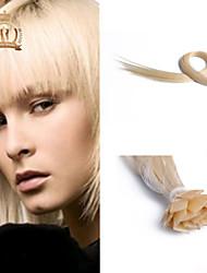 "20 ""Zoll-Flachspitze malaysisches reines Haar gerade Menschenhaar-Farbe #platinum"