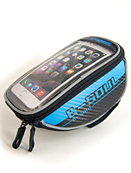 "Waterproof Bicycle Handlebar Bag for 4.8"" Cellphones"
