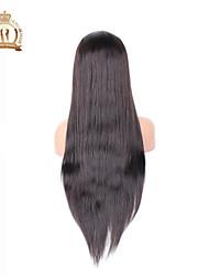 """10 """"-26"""" sans colle pleine perruque de dentelle couleur de cheveux brésilienne vierge droite N ° 2 sombre cheveux de bébé brun pour les"""