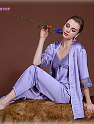 Women Lace/Polyester/Silk/Spandex Babydoll & Slips/Lace Lingerie/Robes/Satin & Silk/Ultra Sexy/Suits Nightwear