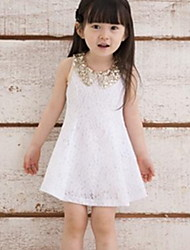 Kid's Casual/Cute/Party Dresses (Cotton/Sequined)