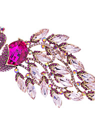 Women's Party Jewelry Rhinestone Peacock Peahen Brooch Broach Pins (More Colors)