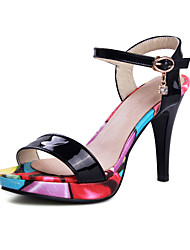 Women's Shoes Stiletto Heels/Platform/Sling back/Open Toe Sandals Party & Evening/Dress Black/White
