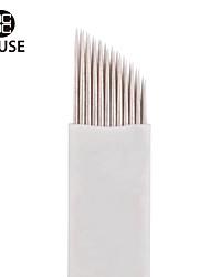 CHUSE™ D21 50pcs Permanent Makeup Manual Eyebrow Tattoo Needle Double-deck Blade 21 Needles