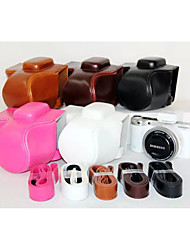 dengpin pu leer olie huid afneembare camera cover case tas voor Samsung NX500 met 16-50mm lens (verschillende kleuren)