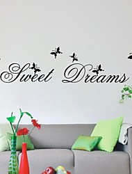 Sweet Dream Living Room Decor Quotes Wall Decals DIY Zooyoo2002 Removable Pvc Wall Stickers Home Decoration