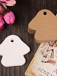 10pcs Mushroom Kraft Paper Hang Tag Lable Bookmark for Gift Bakery Favors Price Cards Wedding Party (More Colors)