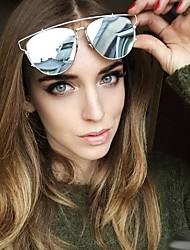 Sunglasses Men / Women / Unisex's Modern / Fashion Browline Silver / Gold Sunglasses Full-Rim