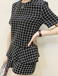 Women's Plaid Pants Suit