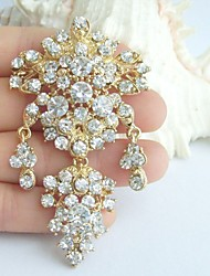 Wedding Accessories Gold-tone Clear Rhinestone Bridal Brooch Wedding Deco Bridal Bouquet Crystal Wedding Brooch