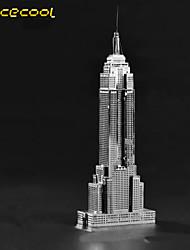 l'empire state construction solide 3d modèle de bâtiment en métal jouet de puzzle enfants d'assemblage de puzzle adulte