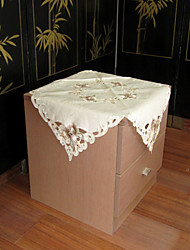klassieke witte geborduurde tafelkleden vierkant (maat: 60cmx60cm)