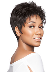 Popular Graceful Short Curly  Mono Top  African American Human Hair Wigs  9 Colors to Choose