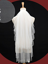 Wedding Veil Two-tier Elbow Veils/Fingertip Veils Beaded Edge