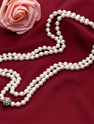 D Exceed New Arrival Faux Pearl Beaded Necklaces & Pendants Long Sweater Chain for Women Pearl Neckalces