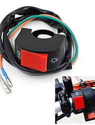 """motocicleta névoa negra interruptor de luz 7/8 """"guiador 12V DC sistema elétrico"""