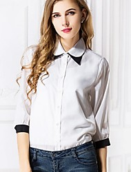 Cool Lady Women's Casual/Work Shirt Collar ¾ Sleeve Casual Shirts