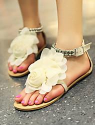 Lobo Women's Shoes Flower Flat Heel Flat Sandals