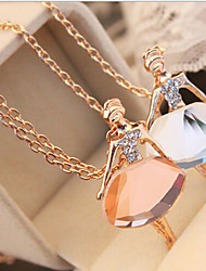 New Arrival Fashional Hot Selling Rhinestone Ballet Girl Necklace