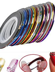 24 - Autocollants 3D pour ongles - Doigt/Orteil - en Abstrait - 8X5X1.5