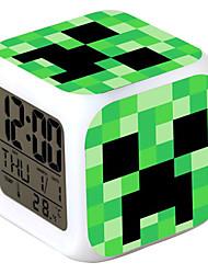 minecraft 7 cambio de color despertador digital llevado termómetro casi coloridos juguetes brillantes