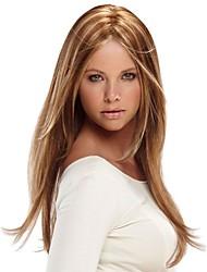 hoge kwaliteit kanekalone lange rechte pruiken voor vrouwen u deel pruiken, lange blonde pruiken