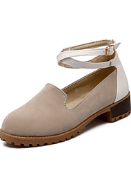 Women's Shoes Faux Suede Chunky Heel Round Toe/Closed Toe Pumps/Heels