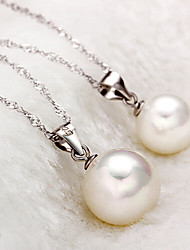 ZGTS Women's Gorgeous Elegant Pearl Pendant Necklace