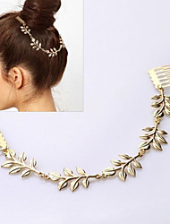 Eternal Fashion Gold Metal Leaf Headband Hair Band Hair Combs(1 pc)