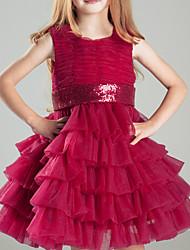 Ball Gown Short/Mini Flower Girl Dress - Satin Sleeveless