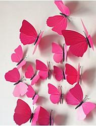las pegatinas de pared de la mariposa de simulación en tres dimensiones (12pcs)