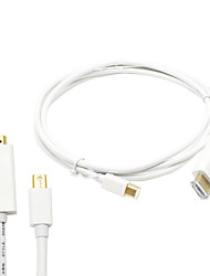 6FT/1.8M Thunderbolt Mini Displayport to HDMI Cable Adapter for MacBook Pro & MacBook Air