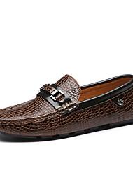 Zapatos de Hombre Mocasines Casual Cuero Negro / Marrón / Azul Marino