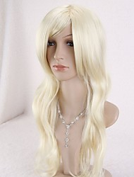 24inch Long Natural Blonde Wave Wig Full Women Wig/Wigs+Cap