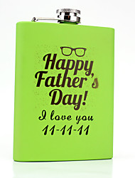 Gift Groomsman Personalized Green Stainless Steel Flasks 8-oz Flask Father's Day Gift