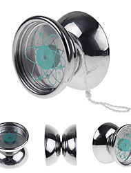 Professional Stainless Steel Satellite Orbit YoYo Ball 3 Bearing String Trick Toy Gift Silver