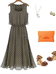 Kyrene Women's Beach/Casual Sleeveless Dresses (Chiffon)