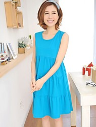 Maternity Sleeveless Nursing Clothes Knitted Cotton Pregnancy Breast Feeding Dress