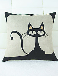 Creative Cat Home Hold Pillowcase Set of Sofa Cushion for Leaning on