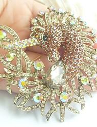 Women Accessories Gold-tone Topaz Rhinestone Crystal Unicorn Horse Brooch Art Deco Scarf Brooch Pin Women Jewelry