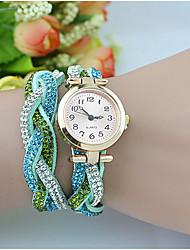 женской моды кристалла жемчужина chainbracelet часы