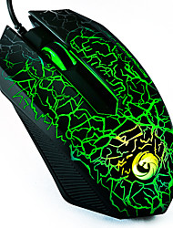 e-sport gaming mouse / alta precisione 1200 dpi luce colorata usb cablato gaming mouse ottico con controllo laterale