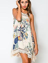 Lottie Women's Fashion Causual Floral Print Shift Dress
