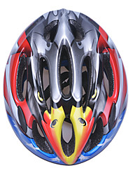 Fashion Comfortable+Safety EPS 10 Vents Kids' Integrally-molded Cycling Helmet - Light Gray + Yellow + Red