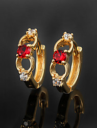 New Design Party/Casual Gold Plated Hoop Earrings Elegant Jewelry
