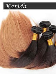 4Lot/pcs 12-26 inch Ombre Brazilian Virgin Hair Straight Color 1b/27 Straight Hair Weaving