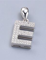 gl 925 gioielli in argento con zirconi cubici aaa pendente / rodiato