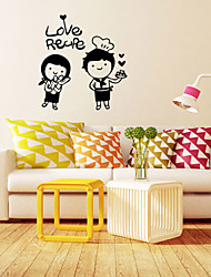 Wall Stickers Wall Decals, Style Love Recipe English Words & Quotes PVC Wall Stickers